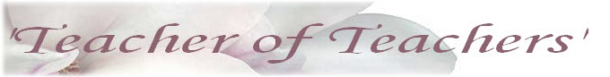 Teacher of Teachers Banner